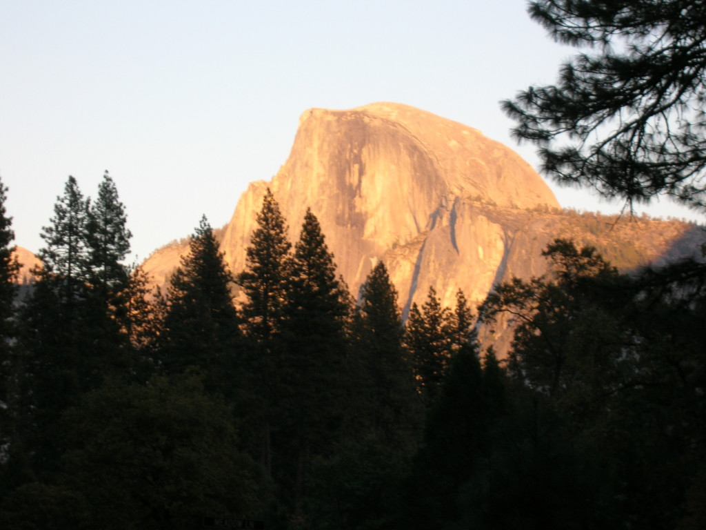 The classic view of Half Dome from Yosemite Valley.